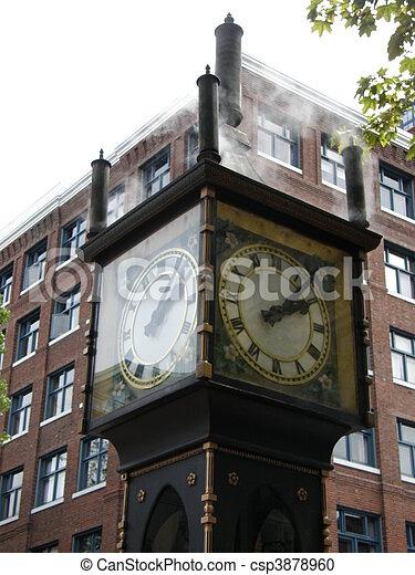 Steam Clock in Vancouver, Canada - csp3878960