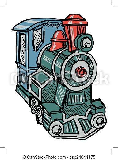 steam engine train - csp24044175