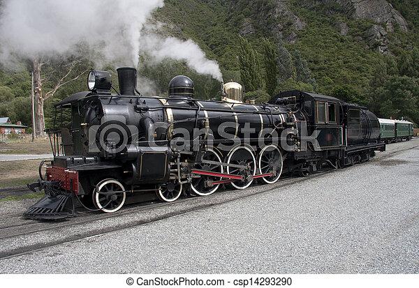 Steam locomotive - 2 - csp14293290