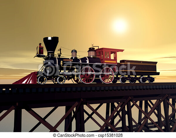 Steam Locomotive - csp15381028