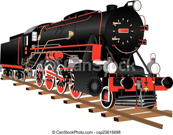 Steam Locomotive - csp23616698