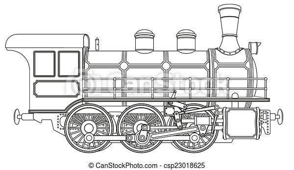 steam locomotive - csp23018625