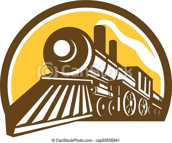 steam-locomotive-low-angle-half-circ - csp50556941
