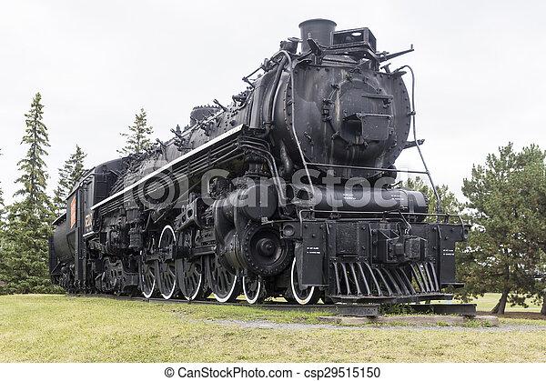 Steam locomotive on display - csp29515150