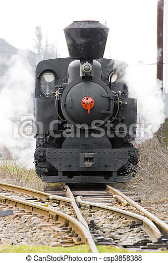 steam locomotive  - csp3858388