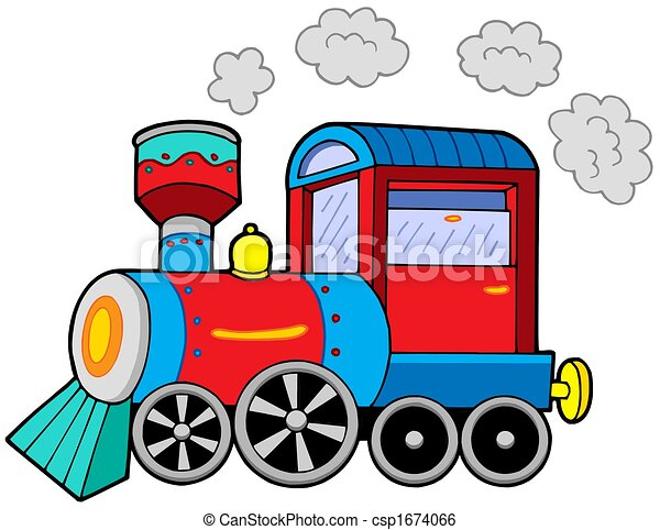 steam locomotive on white background isolated illustration rh canstockphoto com locomotive wagon clipart locomotive train clipart