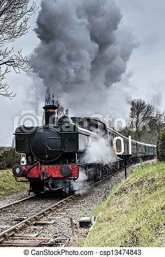 Steam Locomotive - csp13474843