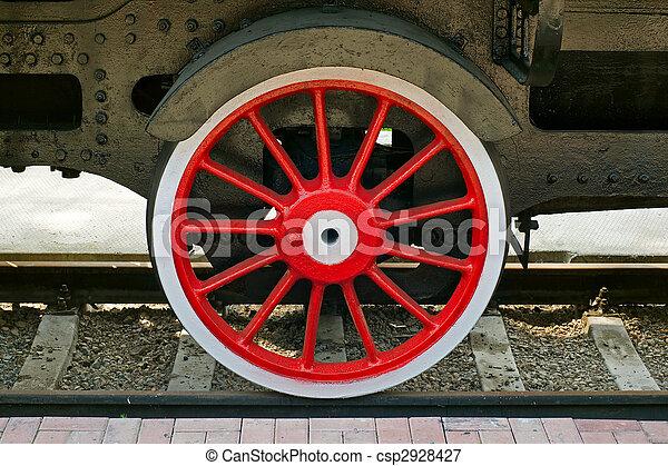 steam locomotive wheel - csp2928427