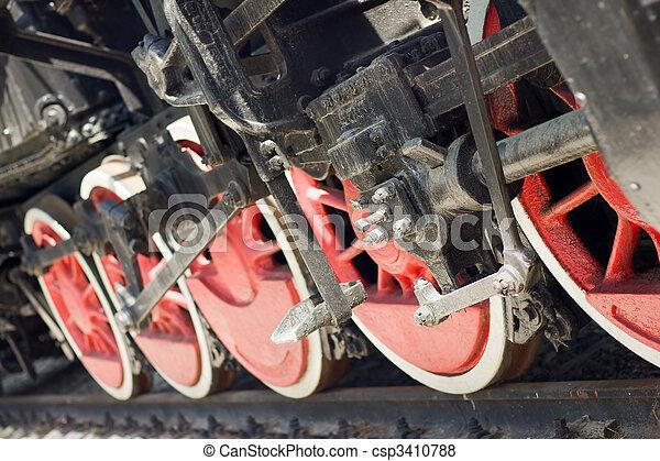 steam locomotive wheels - csp3410788