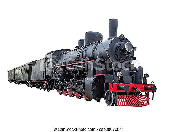 Steam locomotive with wagons - csp38070841