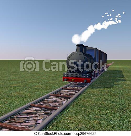 Steam train - csp29676628
