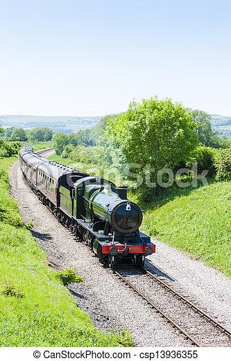 steam train, Gloucestershire Warwickshire Railway, Gloucestershire, England - csp13936355