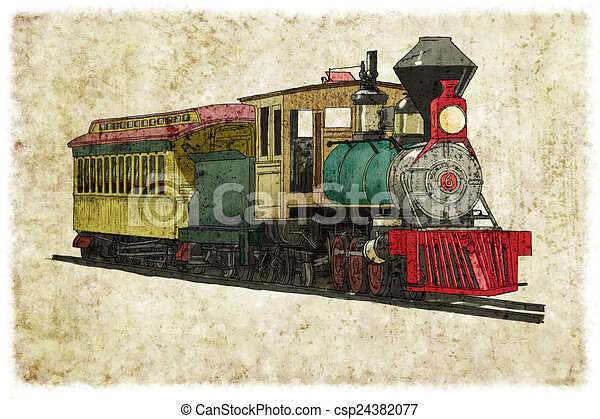 Steam train - csp24382077