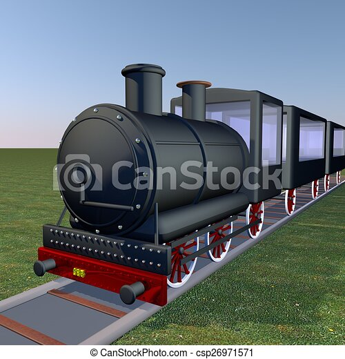 Steam train - csp26971571