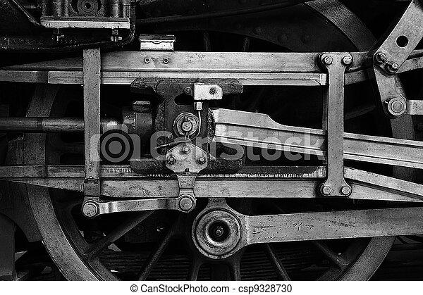 steam train wheel drive - csp9328730