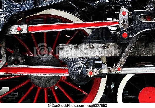 steam train wheel - csp9327993