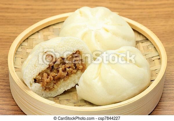 steamed meat bun - csp7844227