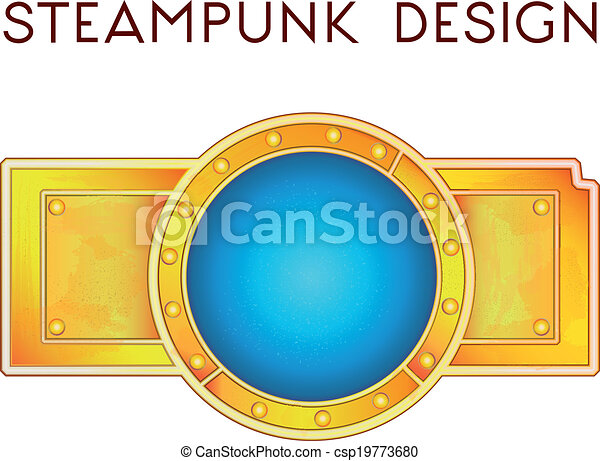 steampunk, estilo, elemento - csp19773680