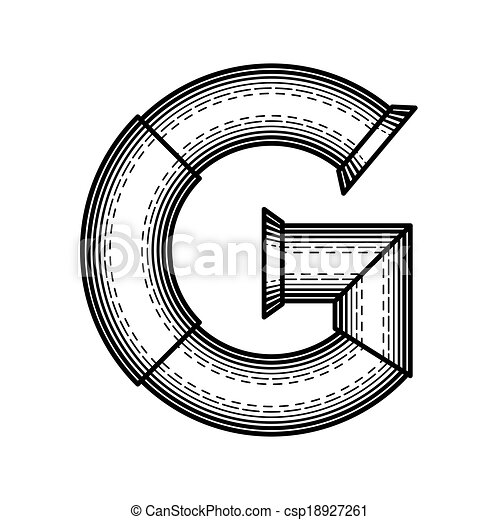 Alphabet Technically Letter G Illustrations And Clip Art 37