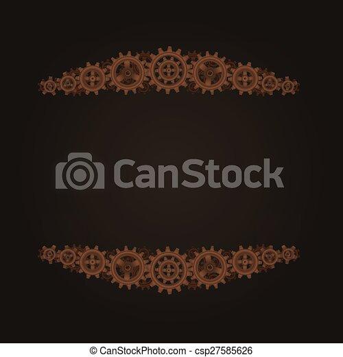 steampunk frame template