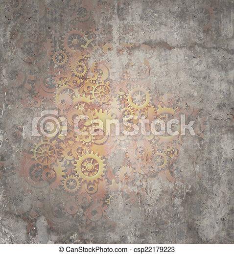 Steampunk Grunge Background - csp22179223