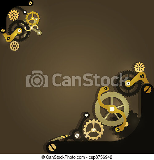 Trasfondo mecánico Steampunk - csp8756942