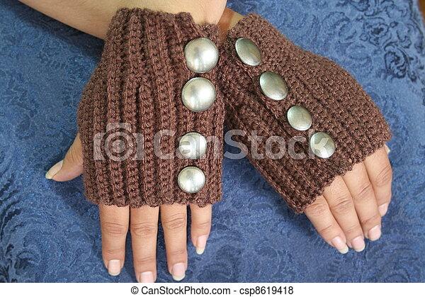 Steampunk Style Fingerless Gloves - csp8619418