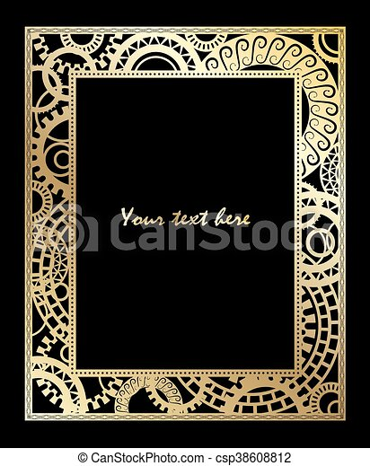 steampunk style template design for card steampunk style template