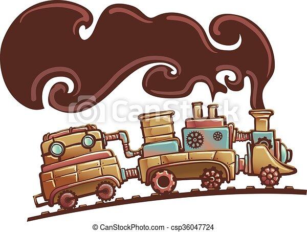 Tren Steampunk - csp36047724