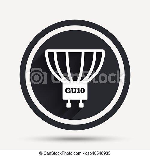 Steckdose, gu10, licht, symbol., lampe, zwiebel, icon. Wohnung ...