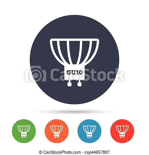 Steckdose, gu10, licht, symbol., lampe, zwiebel, icon.... Vektor ...