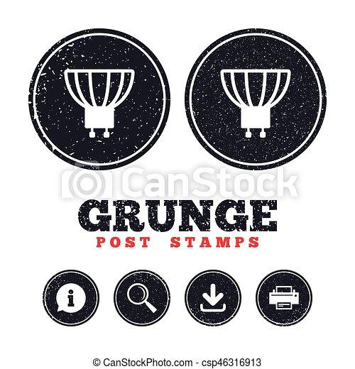 Steckdose, gu10, licht, symbol., lampe, zwiebel, icon. Drucker ...