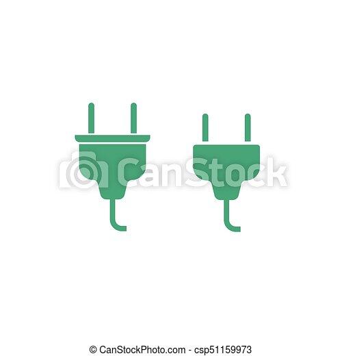 Stecker, elektrisch, kabel, freigestellt, abbildung,... Vektoren ...