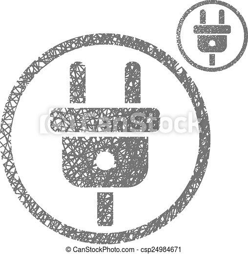 Stecker, elektrisch, kabel, si, vektor, eingabe. Stecker ...