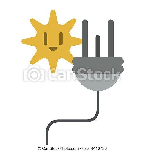 Stecker, energie, elektrisch, kabel, ikone. Stecker, 10,... Vektoren ...