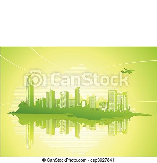 stedelijke , achtergrond - csp3927841
