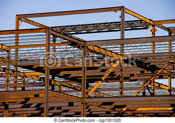 Steel Building Frame Construction - csp1301528