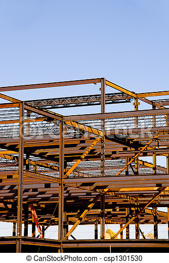 Steel Building Frame Construction - csp1301530