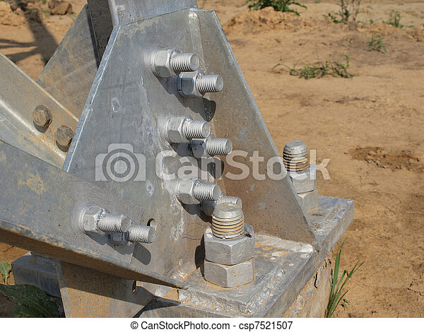 steel  construction with bolts and nuts - csp7521507