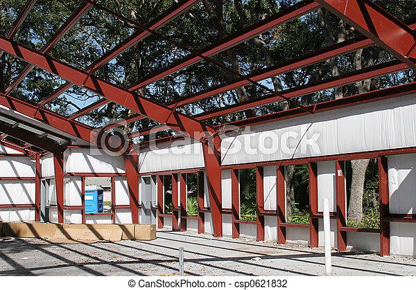 Steel Frame Building - csp0621832