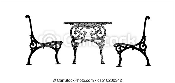 Steel Garden Table And Chairs   Csp10200342