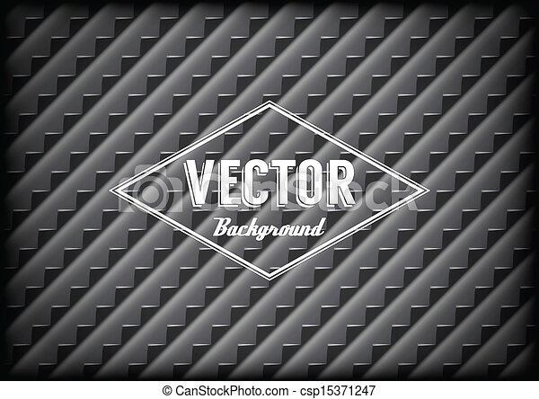 Steel grid background with sharp teeth and label - csp15371247