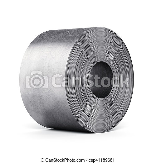 Steel sheet rolled into a roll - csp41189681