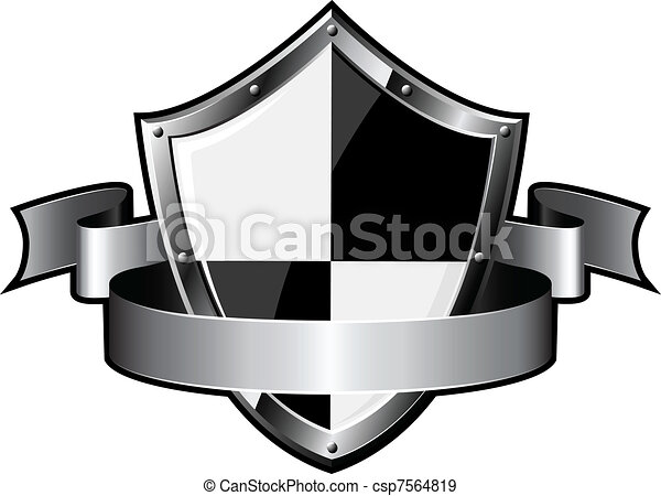 Steel shield with ribbon - csp7564819