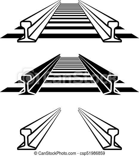 steel train rail track profile symbol - csp51986859