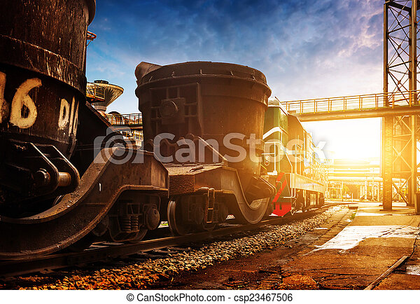 Steelworks train - csp23467506