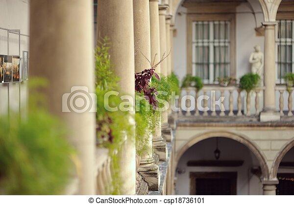 Vazen Op Balkon : Steen balkon steen kleurrijke aartsen vazen bloemen balkon