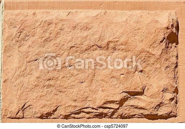 steen, knippen, zandsteen, oppervlakte, rustiek, rood, ruige , blok - csp5724097