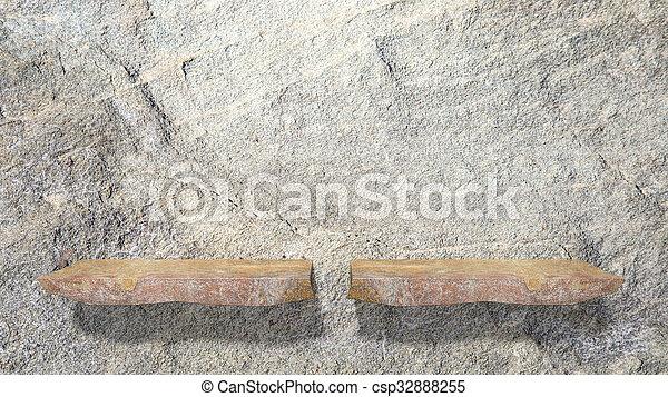 Planken Op Muur.Steen Planken Muur Twee Wall Lege