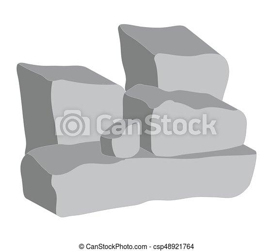 Hedendaags Steen, symbool, vector, hoop, pictogram, design. Mooi, steen, hoop PM-96